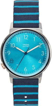Canton and Hall Davis Slim Nylon Strap Watch, 40mm