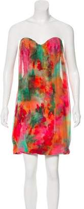 Rosa Cha Printed Strapless Dress