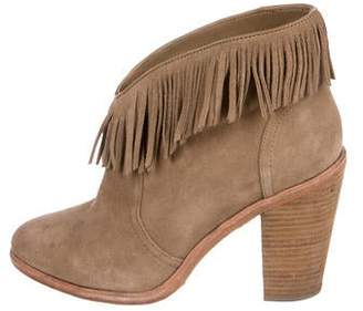 Solid & Striped Joie x Suede Fringe Ankle Boots