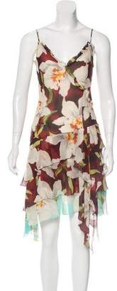 Cacharel Silk Floral Print Dress