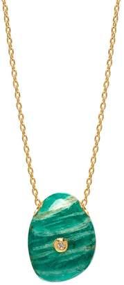 Lola Rose London - Curio Diamond Pebble Necklace Amazonite