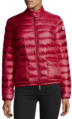 Moncler Lans Collared Down Jacket $695 thestylecure.com