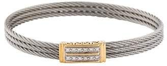 Charriol Diamond Three Row Cable Bracelet