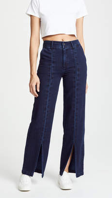 Habitual High Rise Slit Front Straight Trousers