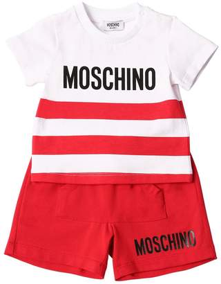 Moschino Striped Cotton Jersey T-Shirt & Shorts