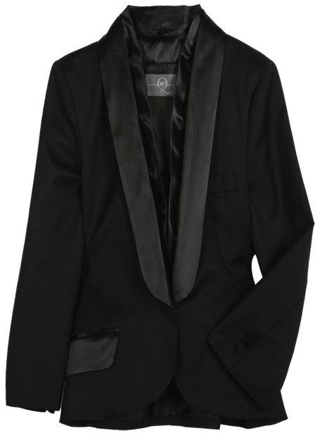 McQ Alexander McQueen Black Tuxedo Jacket