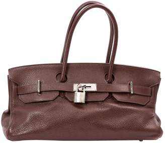 Hermes Birkin Shoulder Brown Leather Handbag