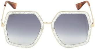 Gucci Oversized Octagon Sunglasses