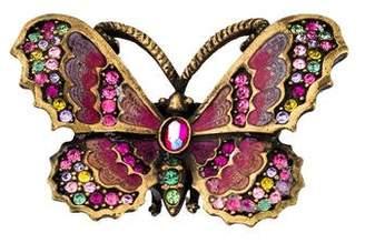 Jay Strongwater Crystal & Enamel Butterfly Brooch