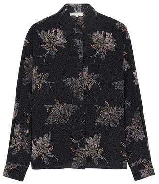 b535d38fb5053a at Harvey Nichols · Vince Printed Silk Shirt