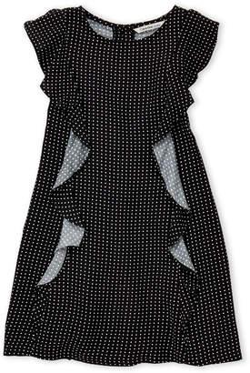 Calvin Klein Jeans Girls 4-6x) Polka Dot Ruffle Dress