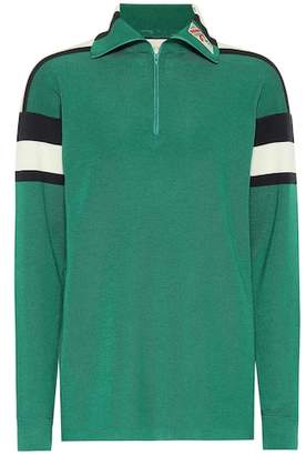 Gucci Wool and cashmere track jacket