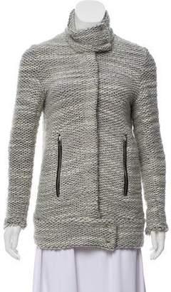 IRO Band Collar Knit Jacket