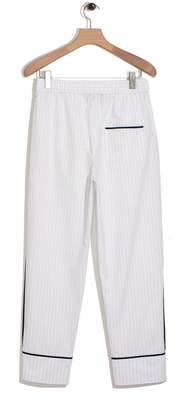 3.1 Phillip Lim Cropped elastic waist pajama pant - pinstripe