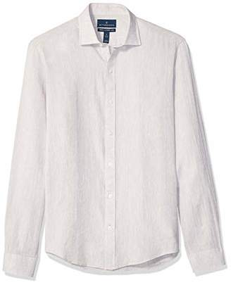 Buttoned Down Men's Tailored Fit Casual Linen Cotton Shirt