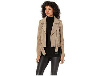 Blank NYC Real Suede Moto Jacket in French Taupe