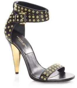 Michael Kors Niki Runway Leather Ankle-Strap Sandals