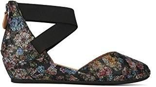 Gentle Souls Kenneth Cole Women's NOA Low Wedge Pump Elastic Straps Shoe