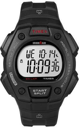 Timex Ironman Mens Black Resin Strap 30-Lap Watch T5K8229J