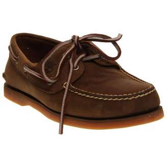 Timberland Men's Classic Boat 2 Eye Boat Shoe Brown 10 M US