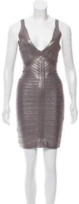 Herve Leger Trista Bandage Dress Grey Trista Bandage Dress