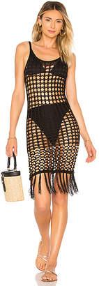 Tularosa Crochet Net Slip Dress