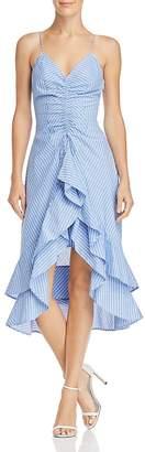 Joie Eberta Striped Ruffle Dress