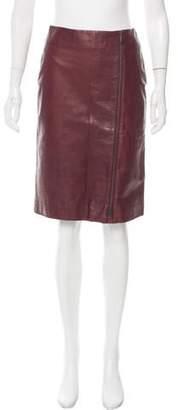 Bottega Veneta Leather Pencil Skirt