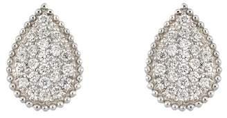 Bony Levy 18K White Gold Pave Diamond Teardrop Stud Earrings - 0.13 ctw