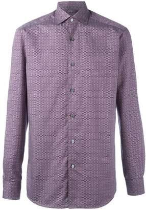 Ermenegildo Zegna floral diamond pattern shirt