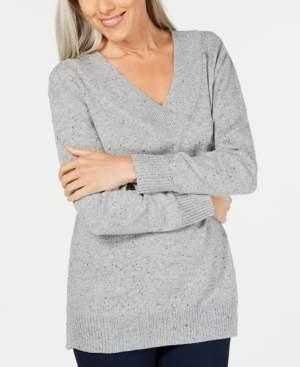 Karen Scott V-Neck Long-Sleeve Sweater, Created for Macy's