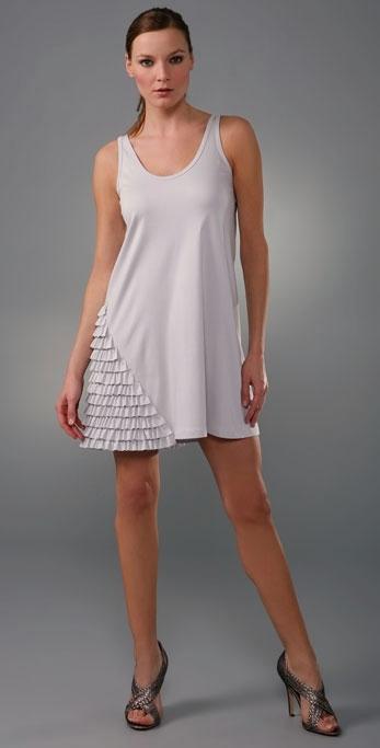 Larsen Gray Dianelle Ruffle Dress