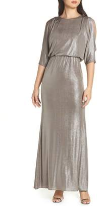 Adrianna Papell Foiled Jersey Gown