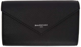 Balenciaga Black Papier Zip Around Wallet