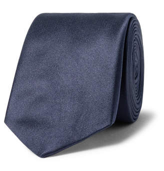 Lanvin 6cm Silk-Satin Tie - Men - Navy