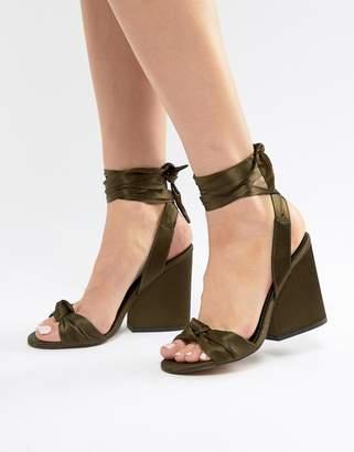 Asos DESIGN Hazy Knotted Heeled Sandals