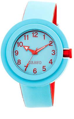 Crayo Womens Equinox Cerulean Strap Watch CRACR2805