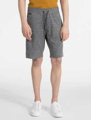 Calvin Klein pinstripe jacquard shorts