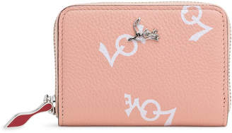 Christian Louboutin Panettone Crazy Love Light Pink Leather Coin Purse