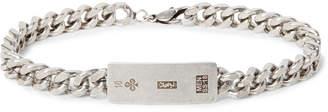 Oxidised Silver-Tone ID Bracelet