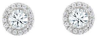 Affinity Diamond Jewelry Round Diamond Halo Stud Earrings, 14K, 3/4 cttw