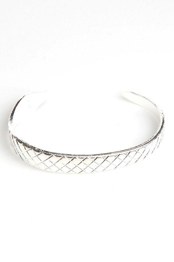 Rachel Leigh Snake Cuff in Silver