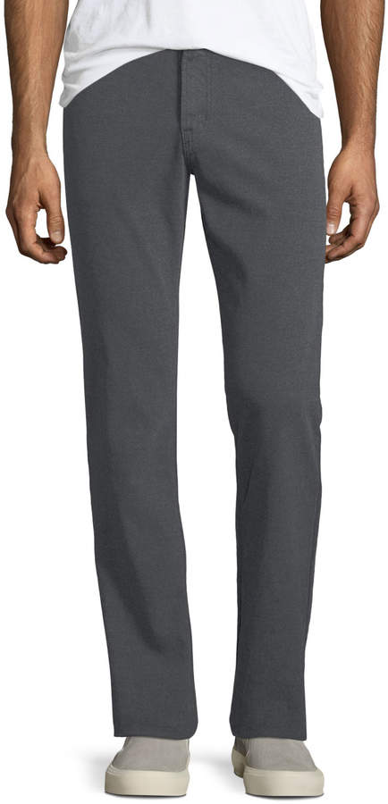 Ag Graduated Melange Wool Trousers
