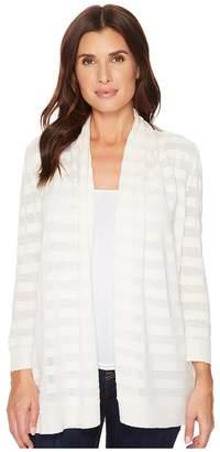 Lilla P 3/4 Sleeve Open Cardigan Women's Sweater
