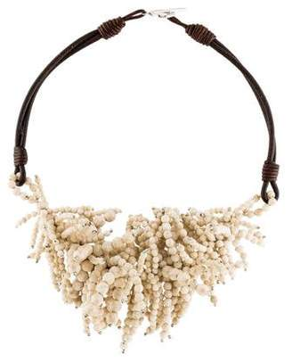 Brunello Cucinelli Riverstone Fringe Necklace