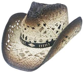 Modestone Straw Cowboy Hat Breezer Metal Concho Studs Hatband a90f66d492f