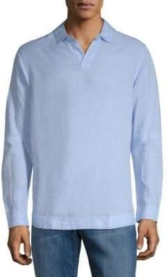 Orlebar Brown Long-Sleeve Linen Polo