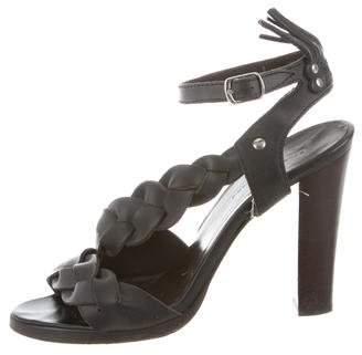 Balenciaga Leather Woven Sandals
