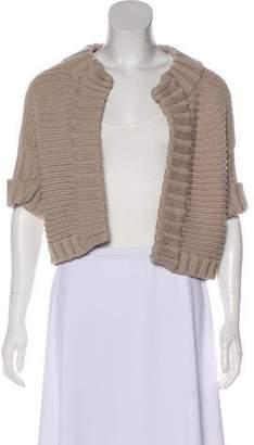 Max Mara Short Sleeve Wool Cardigan