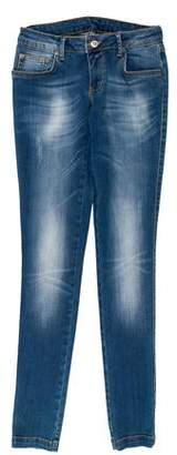 Anine Bing Distressed Low-Rise Skinny Jeans